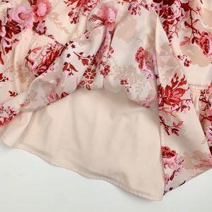 Alex Marie Dresses - Alex Marie Lyssa Floral Ruffle Mock Neck Dress